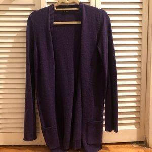 Theory Long Wool Cardigan